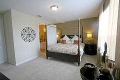 King Master Bedroom. An Interior Home shot of a King Master Bedroom Royalty Free Stock Photo