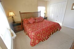 King Master Bedroom. An Interior Home shot of a King Master Bedroom Royalty Free Stock Photos