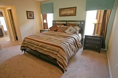 King Master Bedroom. A Master Bedroom, Interior Shot of a Home Stock Photos