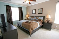 King Master Bedroom. A Master Bedroom, Interior shot of a Home Stock Image