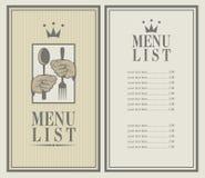 King menu Stock Photo