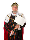 King with message Royalty Free Stock Photo