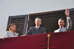 King Michael of Romania. Bucharest, Romania - May 10, 2012: King Michael of Romania with the Romanian Royal Family during one of his last public appearance in stock image