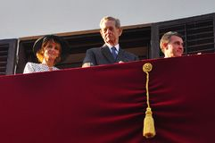 King Michael of Romania. Bucharest, Romania - May 10, 2012: King Michael of Romania with the Romanian Royal Family during one of his last public appearance in royalty free stock photos