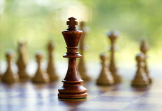 King in the middle of the chessboard Stock Image