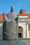 King Mindaugas Monument in Vilnius, Lithuania Stock Photos