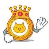 King Monacoin mascot cartoon style. Vector illustration Royalty Free Stock Image