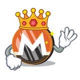 King Monero coin character cartoon. Vector illustration Stock Photos