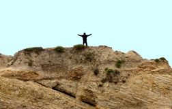 King of the mountain. Freedom! A beautiful site to see from the top! A sense of freedom and the beauty of our Earth Royalty Free Stock Photography
