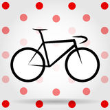 King of the mountains. Bicycle vector. Royalty Free Stock Photography