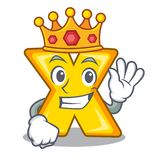 King multiply sign icon isolated on mascot. Vector illustration stock illustration