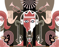 King of Music - vector illustration Royalty Free Stock Photography