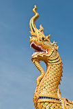 King of naga with blue sky Stock Image