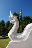 King Naga with Blue Sky in Temple, Thailand Royalty Free Stock Photo