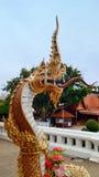 King of Naga guarding the temple. King of Naga at Khonkaen Province, Thailand Royalty Free Stock Photos