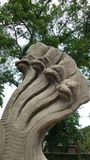 King of Naga sandstone sculpture Stock Photography