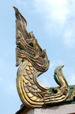 King of Naga on sky Royalty Free Stock Photo