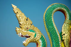 King of naga statue Royalty Free Stock Photos