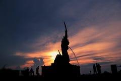 King of naga statue in songkhla thailand. Thailand King of Nagas art attraction Songkhla royalty free stock photos