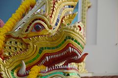 King of Naga in the temple Royalty Free Stock Photo