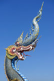 King of Naga in temple of Thailand Royalty Free Stock Photography