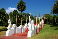 King Naga to guarding the way to hill Royalty Free Stock Photo