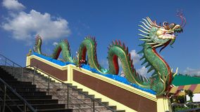 King of Naga under guarded the temple entrance Royalty Free Stock Photo