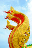 King of Nagas. 3 King of Nagas head pictures , in Thailand Stock Photo