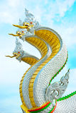 King of Nagas. 3 King of Nagas head pictures , in Thailand Royalty Free Stock Photography