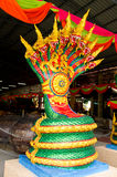 King nagas. Have ninth head with colorful Stock Photos