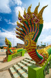King of nagas. This is the king of nagas at the temple of thai Royalty Free Stock Images