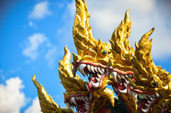 King of Nagas. With the bright sky Stock Photo