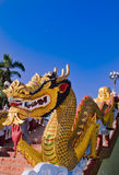 King of Nagas in the Chiangmai temple. Royalty Free Stock Photography