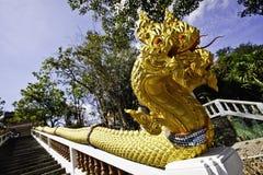 The king of Nagas at Khaokalok temple Royalty Free Stock Photography