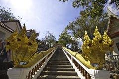 The king of Nagas at Khaokalok temple Stock Photography