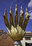 The king of Nagas at Khaokalok temple Stock Image