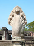 King of Nagas next ladder in Phimai historical park Royalty Free Stock Images