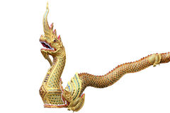 King of Nagas or serpent in thailand temple and stand by at the front of the temple,Temple in Thailand which identity Stock Photos