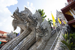 King of Nagas. Statue with blue sky Stock Photo