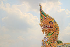 King of Nagas. In temple at Ayutthaya provice, Thailand stock image