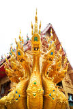 King of Nagas in the Thai Temple Stock Images