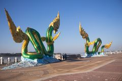 King of nagas traditional ancient culture of buddhism royalty free stock images