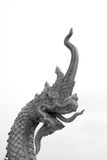 King of naka statue on black and white background Stock Photography