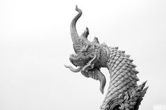 King of naka statue on black and white background Royalty Free Stock Images