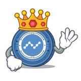 King Nano coin mascot cartoon. Vector illustration Royalty Free Stock Photography