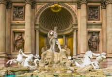 King Neptune Fountain at The Forum Shops Stock Photos
