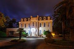 King Nikola's Palace. In center of Bar, Montenegro stock image
