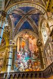 King Nobles Painting Nave Cathedral Church Siena Italy. stock photos