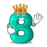 King number eight volume logo the mascot. Vector illustration royalty free illustration