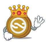 King Nxt coin mascot cartoon. Vector illustration Royalty Free Stock Images
